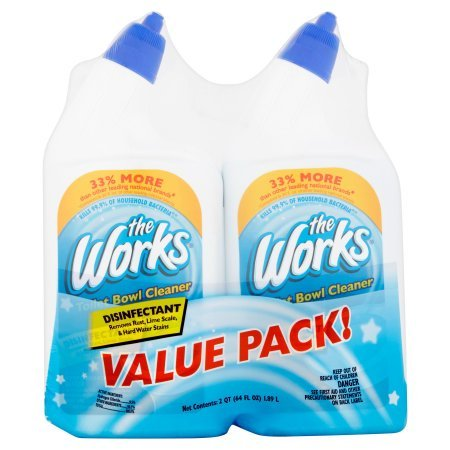 The Works Disinfectant Toilet Bowl Cleaner Value Pack 64 fl oz (Bathroom Scale Bronze)