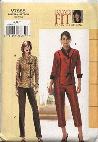 Amazon Vogue Sewing Pattern 7885 Womens Plus Size 24w 32w Top