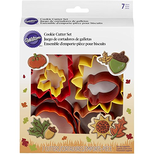 Fall Leaf Cookie Cutter (Wilton 7-Piece Autumn Cookie Cutter Set)