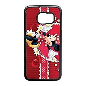 Samsung Galaxy S6 Edge case , Minnie Mouse Cell phone case Black for Samsung Galaxy S6 Edge - LLKK0718595