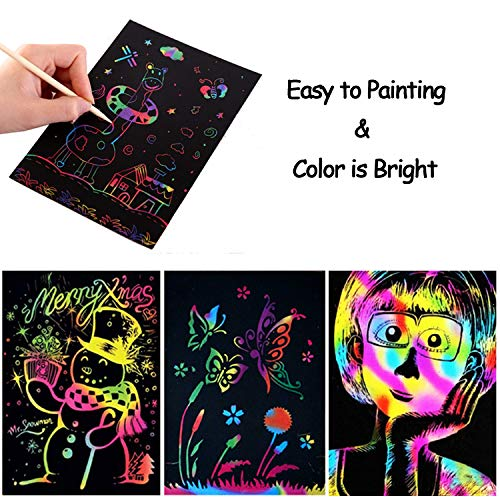 Scratch Art for Kids Scoolr 50 Sheets Rainbow Scratch Paper Arts and Crafts for