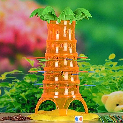 ボードゲーム 転落猿 猿も木から落ちる おサルさん脱走ゲーム ファミリーゲーム パーティーゲーム 組み立て式 簡易説明書付き 幼児 知育おもちゃ 学習玩具 創造力 想像力 育てる Prosperveil