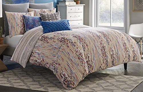 Blissliving Home 14825BEDDQUEMUL Bellas Artes 92-Inch by 96-Inch 3 Piece Queen Duvet Set, Multi