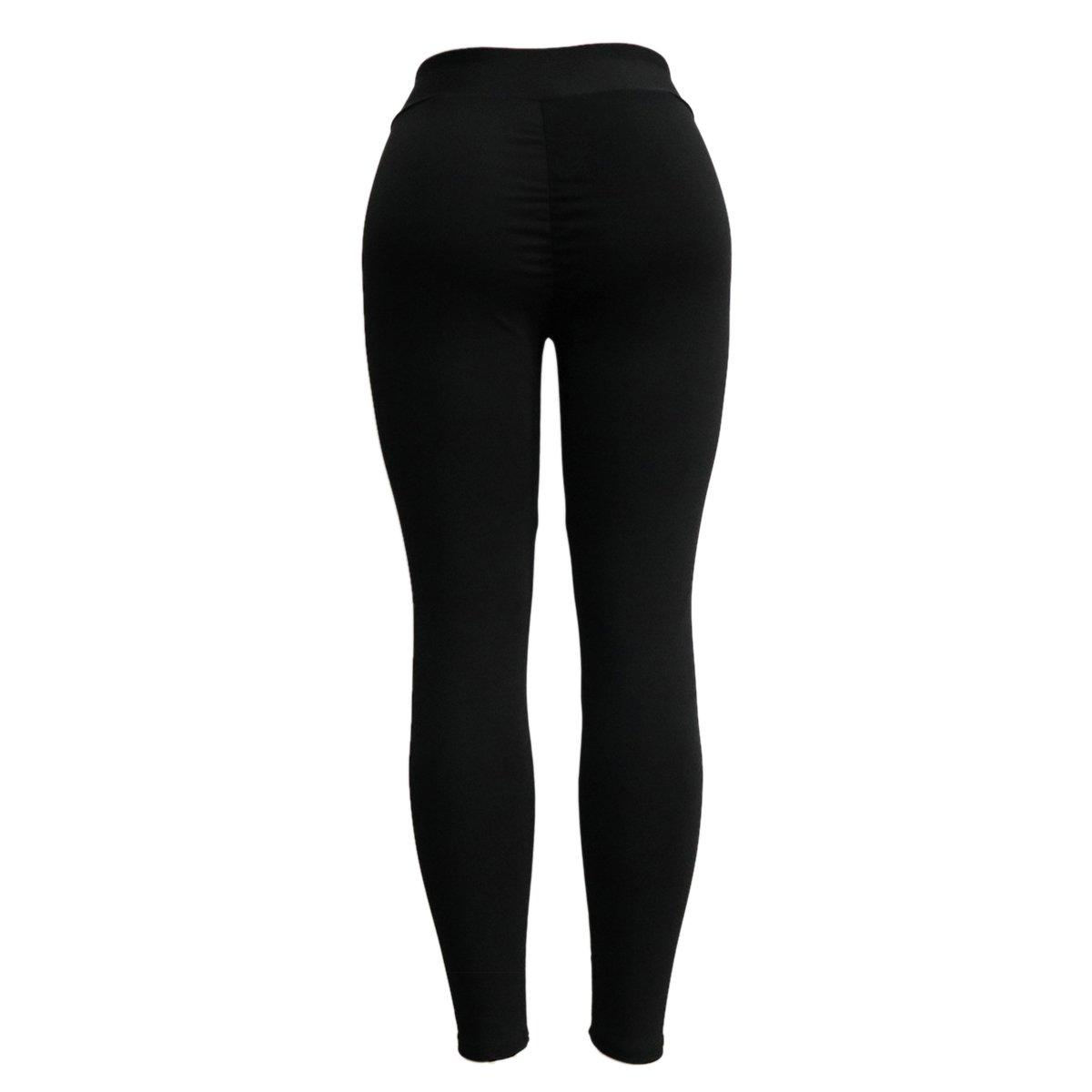 2c15685ecaaac Amazon.com : TOOGOO Fashion Push Up Leggings Women Workout Leggings Slim Leggings  Polyester V-Waist Jeggings Women Pencil Pants Jogging Pants Black S ...