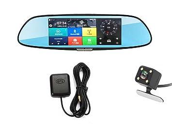 a1ea103af0 MIFO GPSナビゲーションドライブレコーダー ルームミラー式ドライブレコーダー 7インチタッチパネル IPS液晶 バック