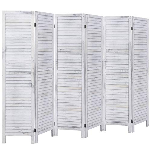 - Rose Home Fashion RHF 6 Panel 5.6 Ft Tall Wood Room Divider, Wood Folding Room Divider Screens, Panel Divider&Room Dividers, Room Dividers and Folding Privacy Screens (6 Panel, Coconut)