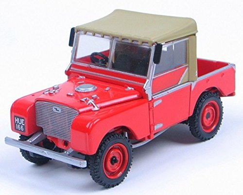 NuoYa001 Red Land Rover Vanguards With Removable Hood Popular Jeep Diecast Car Model (Include a Cycling Reflective Band as gift)