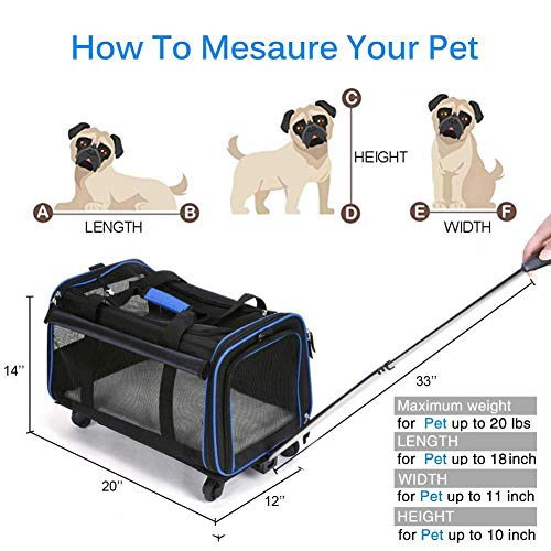 Buy airline pet carrier with wheels