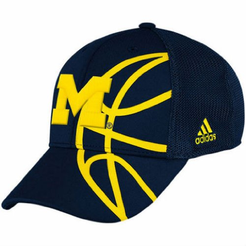 Michigan Wolverines Basketball Adidas Flex Fit Cap Hat Large / X-Large