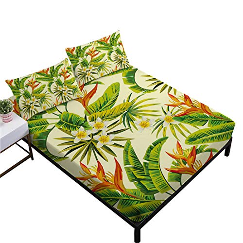 Oliven Sheet Queen Size Hawaiian Style Deep Pocket Sheet Bed Linen Queen Size 4 Piece Home Decor