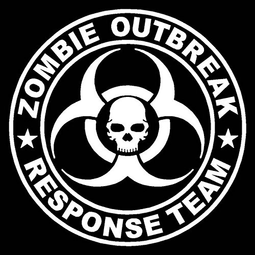 CCI Zombie Outbreak Response Team Funny Decal Vinyl Sticker|Cars Trucks Vans Walls Laptop| White |5.5 x 5.5 in|CCI1631]()