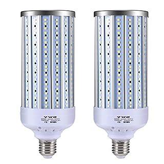 LED Corn Light Bulb 60W, LED Garage Lights,5000 Lumen 6000K, E26/E27, for Basement, Barn, Warehouse, Workshop, Sports Hall- 2 Pack