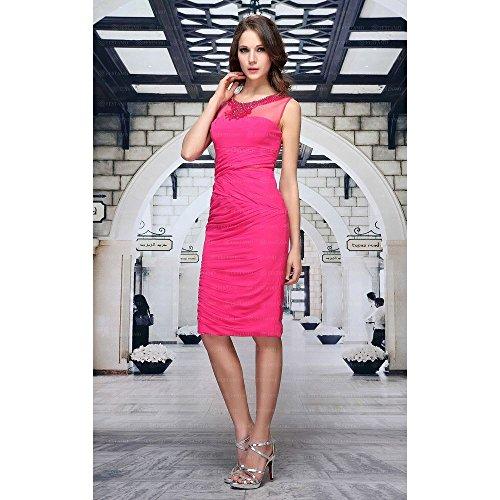 Festamo Cocktail Pink bei Damen Kleid Ital Für Design 6B1CqR6n