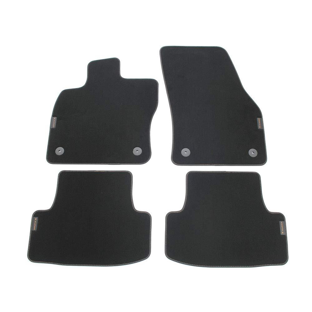 Seat 576863011LOE Color Negro y Cobre Alfombrillas Cupra de Terciopelo