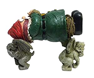 Amazoncom Garden Gnome Kidnapped By Gargoyles Gnappers Lawn