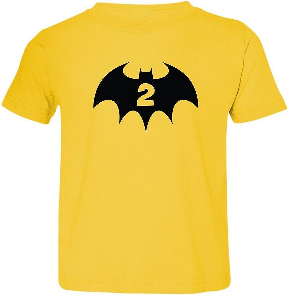 2nd Birthday 2 Years Old Bat Hero Superhero Toddler /& Kids T-Shirt We Match