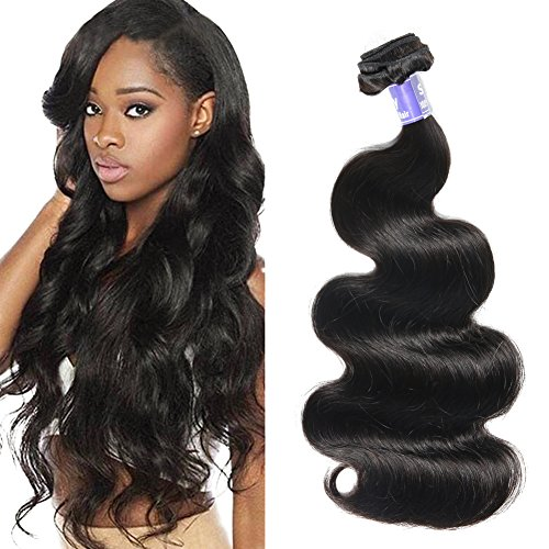 Semmely 8A Brazilian Hair 1 Bundle Body Wave 10 inch Unprocessed Virgin Human Hair Weave Bundles Natural Black Color 100g (10 Inch Wave)