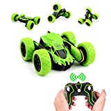 Rodzon Remote RC Car,Control Tracks with 2.4GHZ Controlled Toy Car for Kids and Adults,Double Sided 360 Degree Flips. (Green)(Batteries not Included)