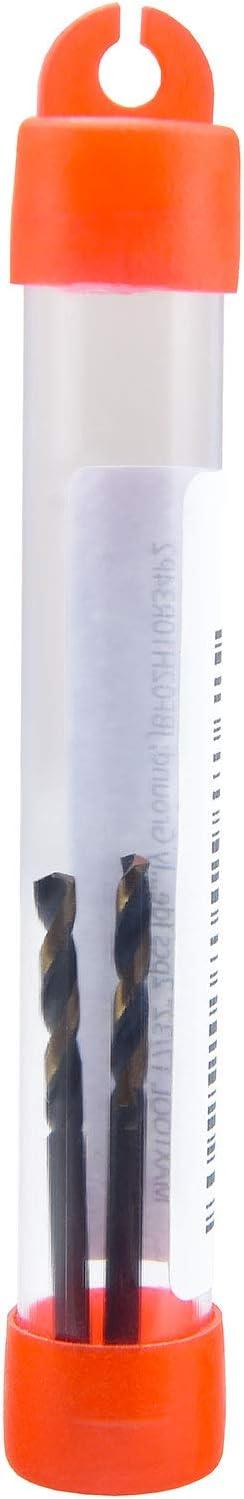 MAXTOOL 9//32 2pcs Screw Machine Stub Twist Drill Bit HSS M2 Fully Ground Black Oxide; SMF02B10R18P2