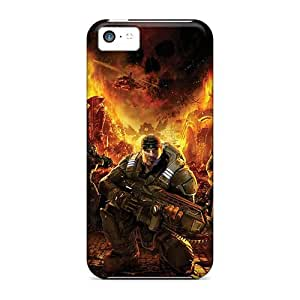 CaroleSignorile VHl13619CUxJ Cases For Iphone 5c With Nice Skull In Fire Appearance