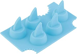 Detectorcatty Cool Silicone Ice Cube Freeze Mold Shark 3D Shape Ice Tray Ice Cream Tools For Summer Party Bar Kitchen