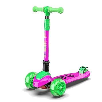 Scooter Deportivo para Niños, Niñas, Scooter De 3 Ruedas para Niños Pequeños, Kick