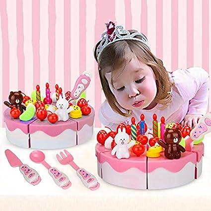 Amazon.com: GreenSun TM 39pcs rosa Play alimentos niños ...