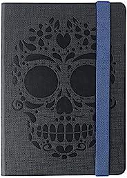 BY MEXICO, Cuaderno Clásico, Hojas Rayadas Calavera Chumbalaca Negro 80 hojas