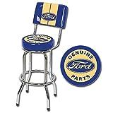 Ford Genuine Parts Logo Swivel Bar Stool with Backrest