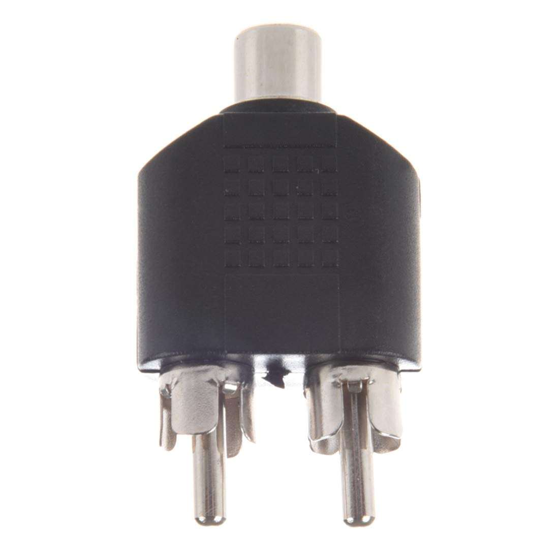 Hosyl RCA Split Adapter for Audio Video AV TV Cable Convert Includes 5xRCA Female to Dual RCA Male