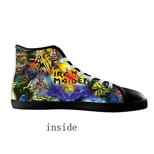 style Shoes KJLJ band MENS rock Men's Shoes Canvas Top Men rock for Black2 style band Canvas High qIIr8w