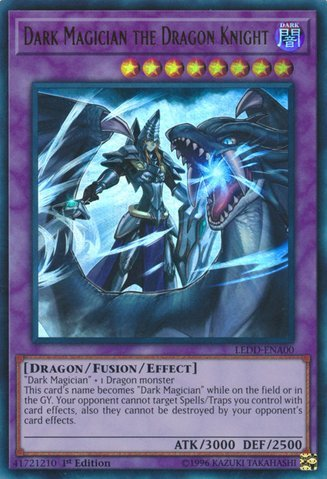 Dark Magician the Dragon Knight - LEDD-ENA00 - Ultra Rare - 1st Edition - Legendary Dragon Decks (1st Edition) (Dark Cards Yugioh Magician)