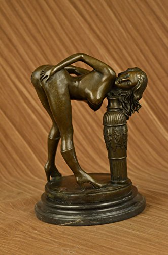 Handmade European Bronze Sculpture Stunning And Sexy Erotic Nude Woman Art Deco Home Decor Figure Bronze Statue -YRD-612-Decor Collectible Gift