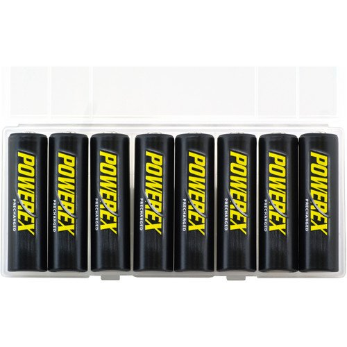 - Powerex Low Self-Discharge Precharged AA Rechargeable Nimh Batteries, (MH-8AAP-BH)