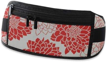 Travel Waist Pack,travel Pocket With Adjustable Belt Flower Pattern On Japanese Paper Running Lumbar Pack For Travel Outdoor Sports Walking
