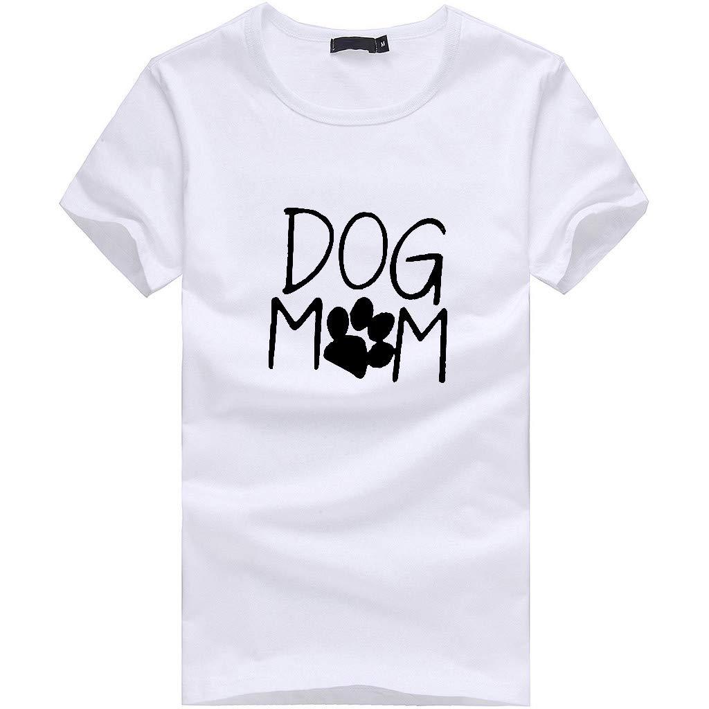 und Weise Frauen Kurzarm Herz T-Shirts Drucken Tops Bluse Shirts iYmitz Damen Mode Lose Oansatz Spitze Rundausschnitt Art