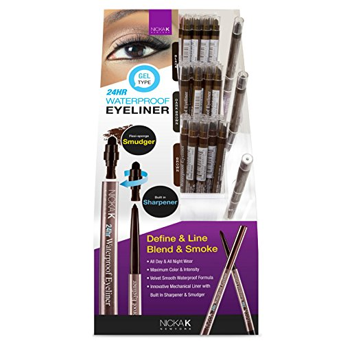 NICKA K 24Hr Waterproof Eyeliner 60 Pieces Display Case Set plus 3 Testers by Nicka K