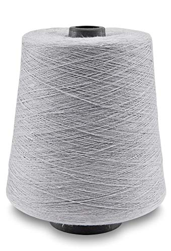 (Linen Yarn Cone - 100% Flax Linen - 1 LBS - Light Gray - 3 PLY - Sewing Weaving Crochet Embroidery - 3.000 Yard)
