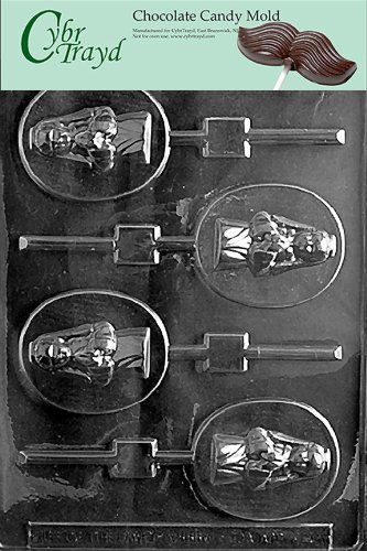 Cybrtrayd R045 Girl Communion Lolly Chocolate Candy Mold with Exclusive Cybrtrayd Copyrighted Chocolate Molding Instructions plus Optional Candy Packaging Bundles Girl Chocolate Mold