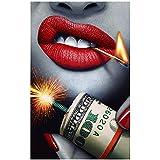 Amazon Com Potato001 Smoking Woman Lady Black White Wall