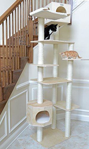 Sanding Tower - Armarkat 89 inch Premium Solid Wood Cat Tree Tower