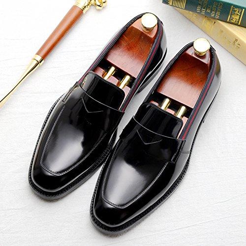 Moda Vestono Giovanile da della da Lavoro Dell'Inghilterra Le Scarpe Le Scarpe Uomo Black Casual XA4qnzw