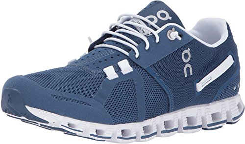 On Inc Womens Cloud, Denim/White, 5.5 by On Running
