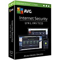 AVG Internet Security Unlimited 2017, 2 Years (Key Card in Retail Box. No CD)