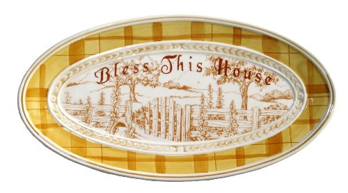 Fitz Floyd Collectibles - Fitz and Floyd Collectible Bless This House Hostess Tray