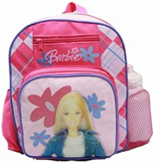 7ddc3cb1cb Amazon.com  Medium Backpack - Barbie - with Water Bottle - Pink 2 ...