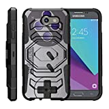 TurtleArmor | Compatible for Samsung Galaxy J3 Emerge Case | J3 (2017) [Octo Guard] Dual Layer Case Holster Belt Clip Sturdy Kickstand Cover – Classic Game Controller For Sale