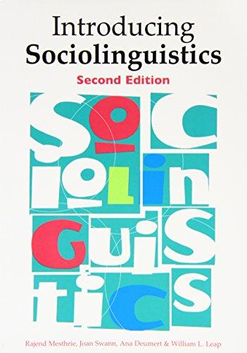 Introducing Sociolinguistics: <strong>Second...