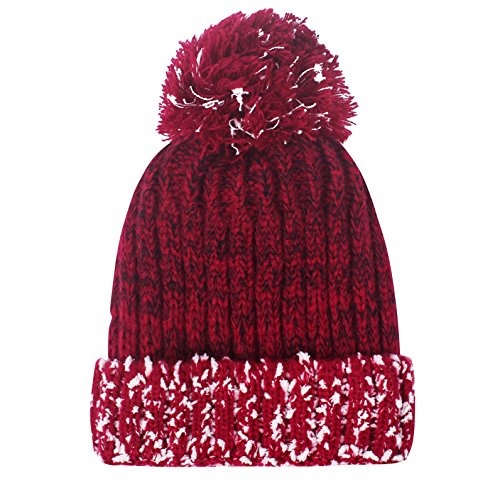 f324095684368 Winter Warm Slouchy Cable Knit Beanie with Fleece Lined - Solid Ribbed and  Chunky Soft Skull Cap by TAMINGTON