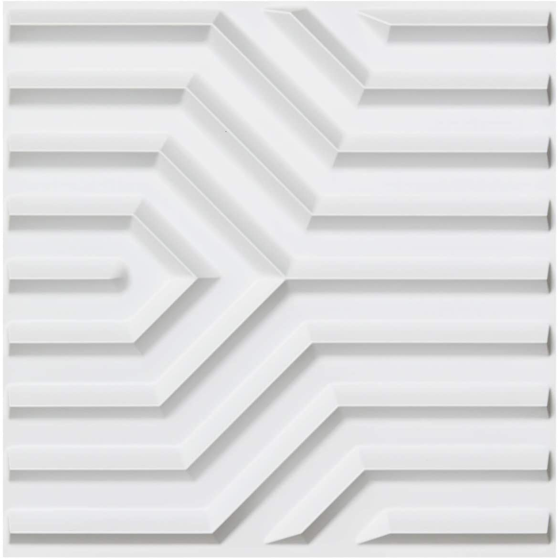 Art3d Textures 3D Wall Panels White Diamond Design Pack of 12 Tiles 32 Sq Ft PVC